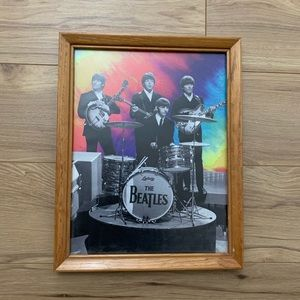 "The Beatles Poster with Frame 14"" x 11"""